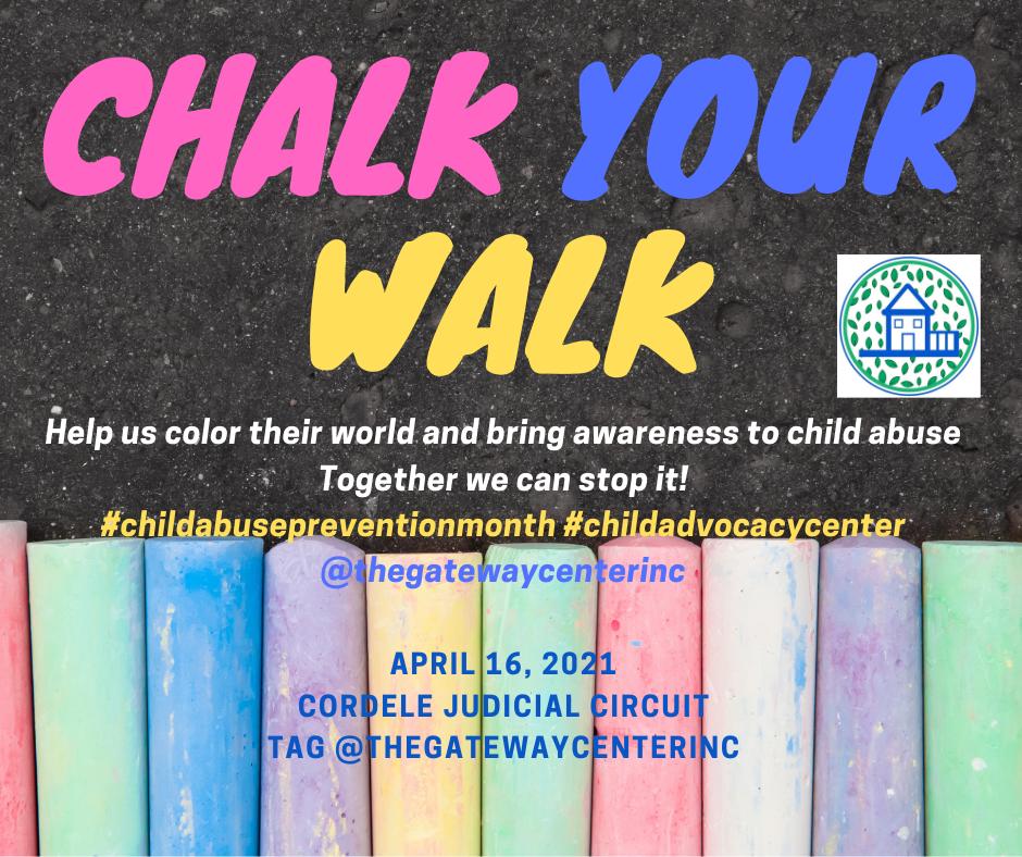 Chalk Your Walk Flyer