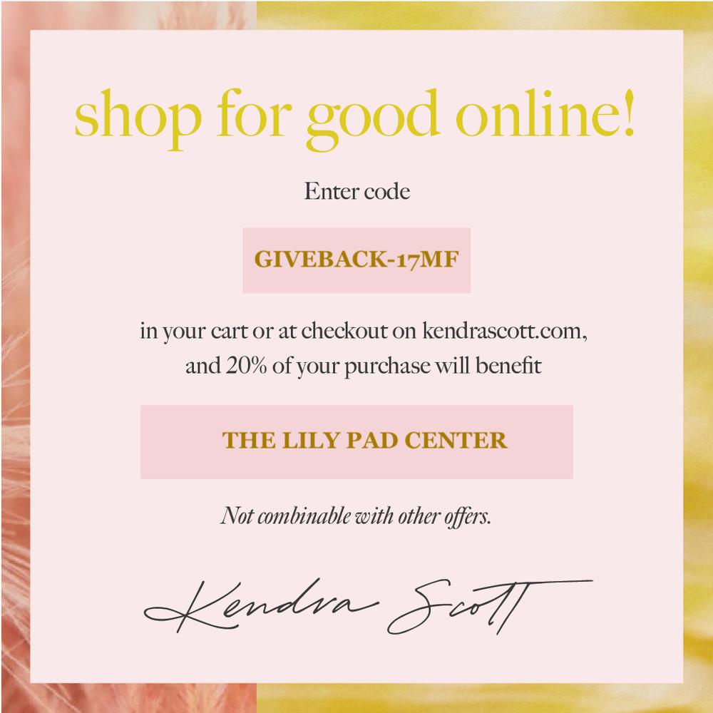 Kendra Scott Shop For Good Event Flyer